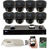 GW Security 8CH 4K NVR Network 1920P Sony Exmor R Starvis IP Security Camera System - 8 x HD 1920P 5.0 Megapixel 4X Optical Motorized Zoom Outdoor Indoor IP POE Dome Camera (Color: Resolution2: 1920p, Tamaño: Package4: 8 Camera System)