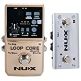 NUX Loop Core Deluxe Upgraded Guitar Loop Pedal with Foot Switch Automatic Tempo Detection 8 Hours Recording 24-bit Audio