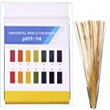 Hestya pH Test Strips, Test for Urine Saliva Acid Alkaline pH Level or Water Quality, Full Range of 1-14 (200 Pieces)
