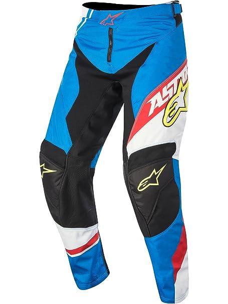 Pantalon Motocross Alpinestars 2016 Racer Supermatic Bleu-Rouge-Blanc