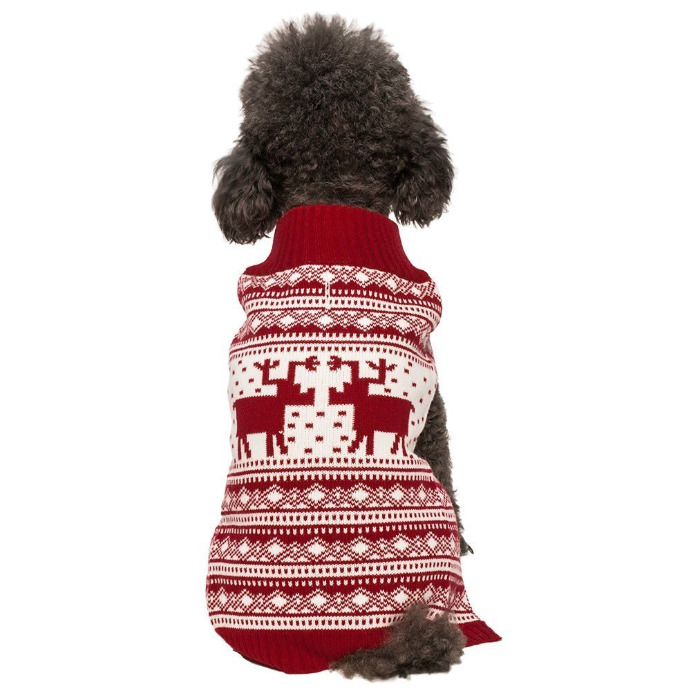 Vintage Reindeer Christmas Dog Jumper