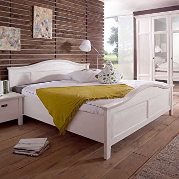 Landhaus-Bett Twinta in Weiß Pharao24