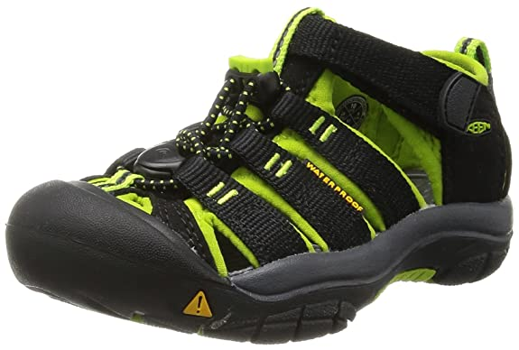 KEEN Newport H2 Sandal (Toddler/Little Kid/Big Kid),Black/Lime Green,10 M US Toddler