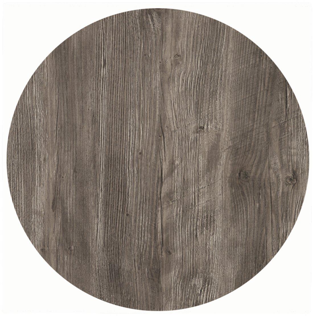Werzalit / hochwertige Tischplatte / Ponderosa grau / runde Form 70 cm / Bistrotisch / Bistrotische / Gartentisch / Gastronomie jetzt bestellen