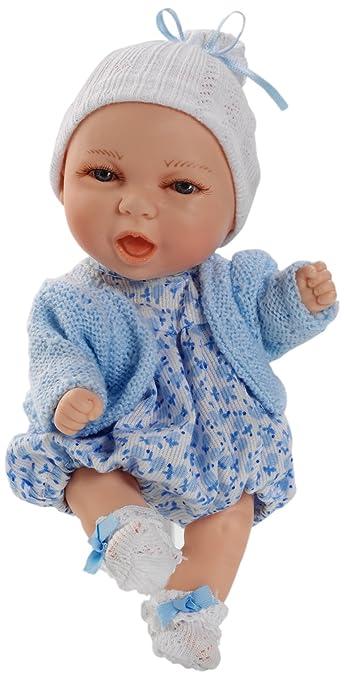 Berjuan Mini Baby Boy Doll in Jacket (Blue)
