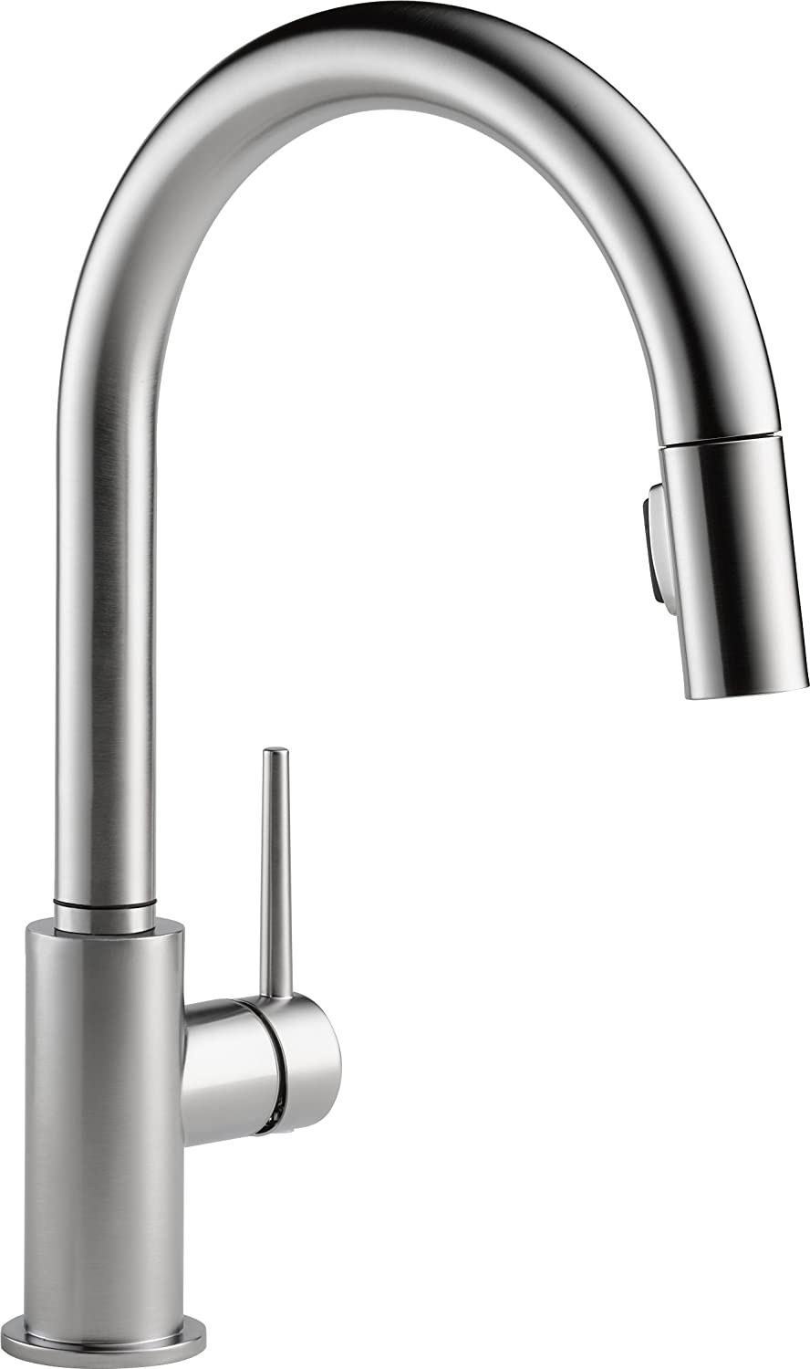 ... Delta 9159 AR DST Trinsic Single Handle Pull Down Kitchen Faucet, Arctic