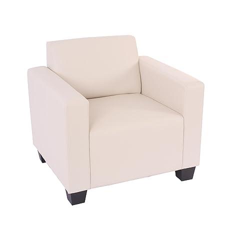 Modular Sessel Loungesessel Lyon, Kunstleder ~ creme