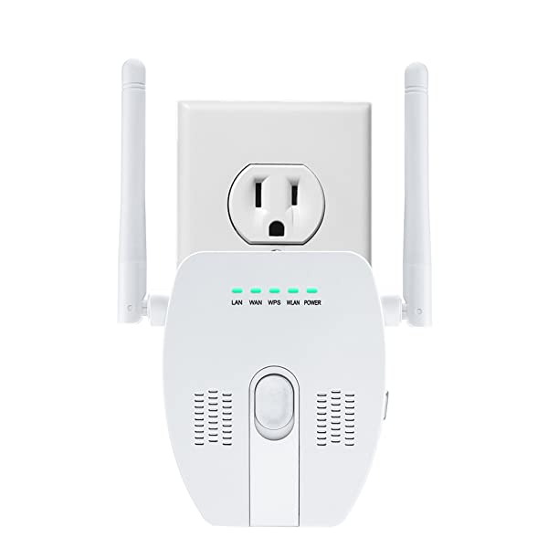 Mini WiFi Router, BTBSZ 300Mbps WiFi Repeater 2.4GHz Wireless Signal Amplifier Wireless Range Extender with Dual Band Antenna Complies IEEE802.11n/g/b