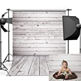 Dobeans 10ft(W) x 10ft(H) Grey Wood Photo Backdrops Vinyl Wooden Wall Background for Children Pictures (Color: 10924, Tamaño: 10ft(W) x 10ft(H))