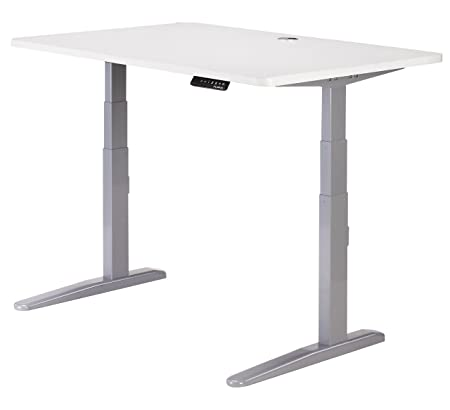 Furna Electric Standing Desk - Adjustable Sit Stand Desk - Multiple Size/Colour (White Top 140x80cm)