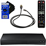 Samsung BD-J5700 Curved Disk Blu-ray Player with Wi-Fi + Remote Control + Xtech High-Speed HDMI Cable with Ethernet + HeroFiber Ultra Gentle Cleaning Cloth