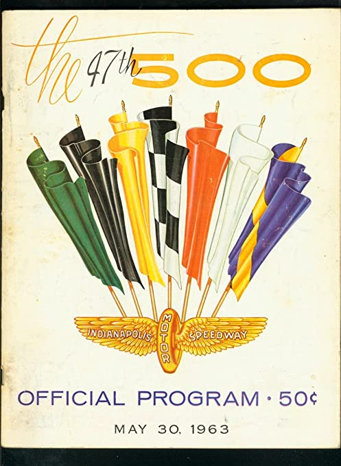 INDIANAPOLIS 500 OFFICIAL PROGRAM-INDY-1963 USAC FOYT VG