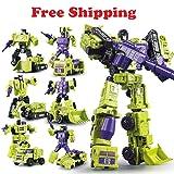 WEIJIANG Transformers GT Engineering Devastator Combiner 6 in 1 Alloy Metal Toys Action Figure Car Truck Model Gift for Kids Boys