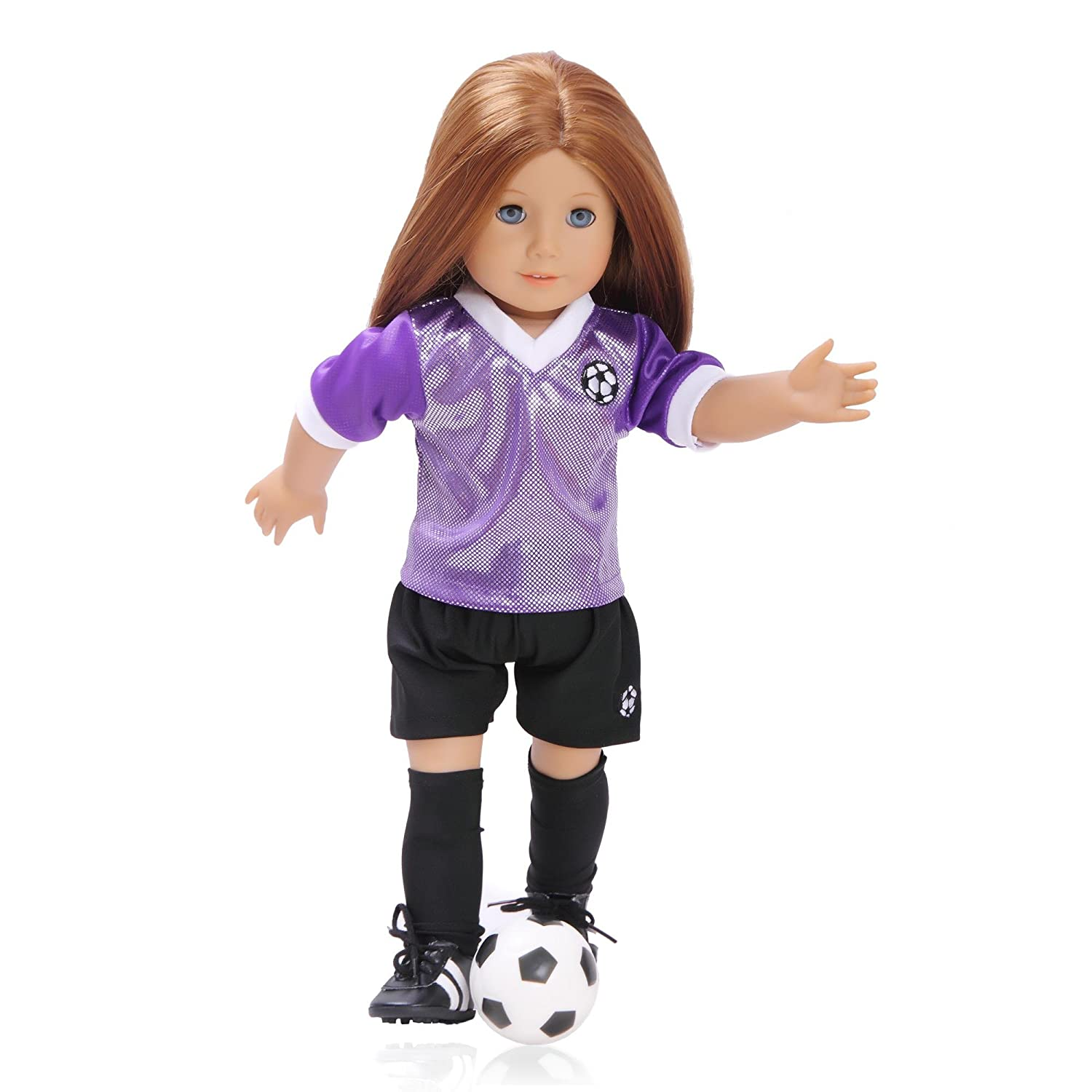 Toy Doll Clothes - 5 Piece Soccer Set