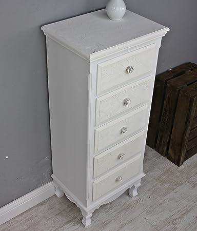 elbmöbel.de Rose - Armario para baño (madera), color blanco