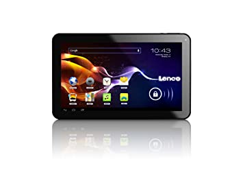 Lenco CARTAB-925 22,8 cm (9'') Tablette Tactile (ARM Cortex-A8 Allwinner A13 Dual Core, 1,2GHz, 1Go RAM, 8Go SSD, 2 Cameras, USB, Micro SD-Kartenleser, HDMI, Android 4.2) mit Auto-Zubehör Noir