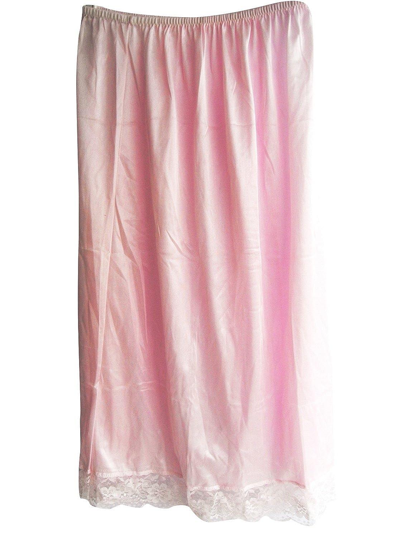 Damen Nylon Halbrock Rosa SANPK Pink Petticoats lingerie Half Slip Ladies