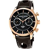 Frederique Constant Men's FC397HDG5B4 VintageRally Analog Display Swiss Automatic Brown Watch