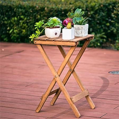 Nordic Simple Wooden Flower Stand Wohnzimmer Balkon Falttisch Couchtisch Outdoor Kleiner Tisch