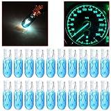 CCIYU 20 Pack Blue T5 17 86 206 Halogen Light Bulb Instrument Cluster Gauge Dash Lamp 12V (Color: Blue, Tamaño: 20pack)