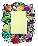 Home Blendz Fruits and Vegetables Design Fridge Magnet with Note pad