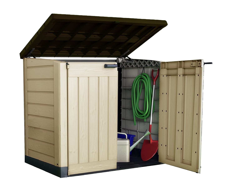 keter store it out max xl plastic garden shed wheelie bin storage ebay. Black Bedroom Furniture Sets. Home Design Ideas