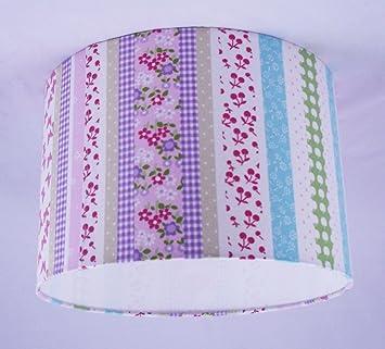 abat jour fait main 28cm 28cm laura ashley cl mentine stripe tissu tissu rose cuisine. Black Bedroom Furniture Sets. Home Design Ideas