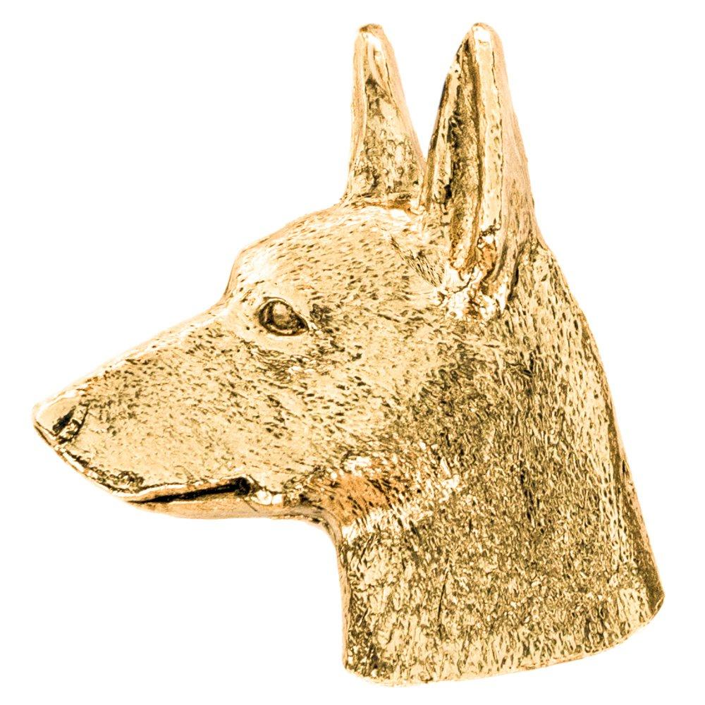 Miniature Pinscher (Head) Made in U.K Artistic Style Dog Brooch Collection 22ct Gold Plated футболка классическая printio gta 5 dog