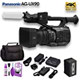 Panasonic AG-UX90 4K/HD Professional Camcorder (AG-UX90PJ) Base (Tamaño: Basic Bundle)