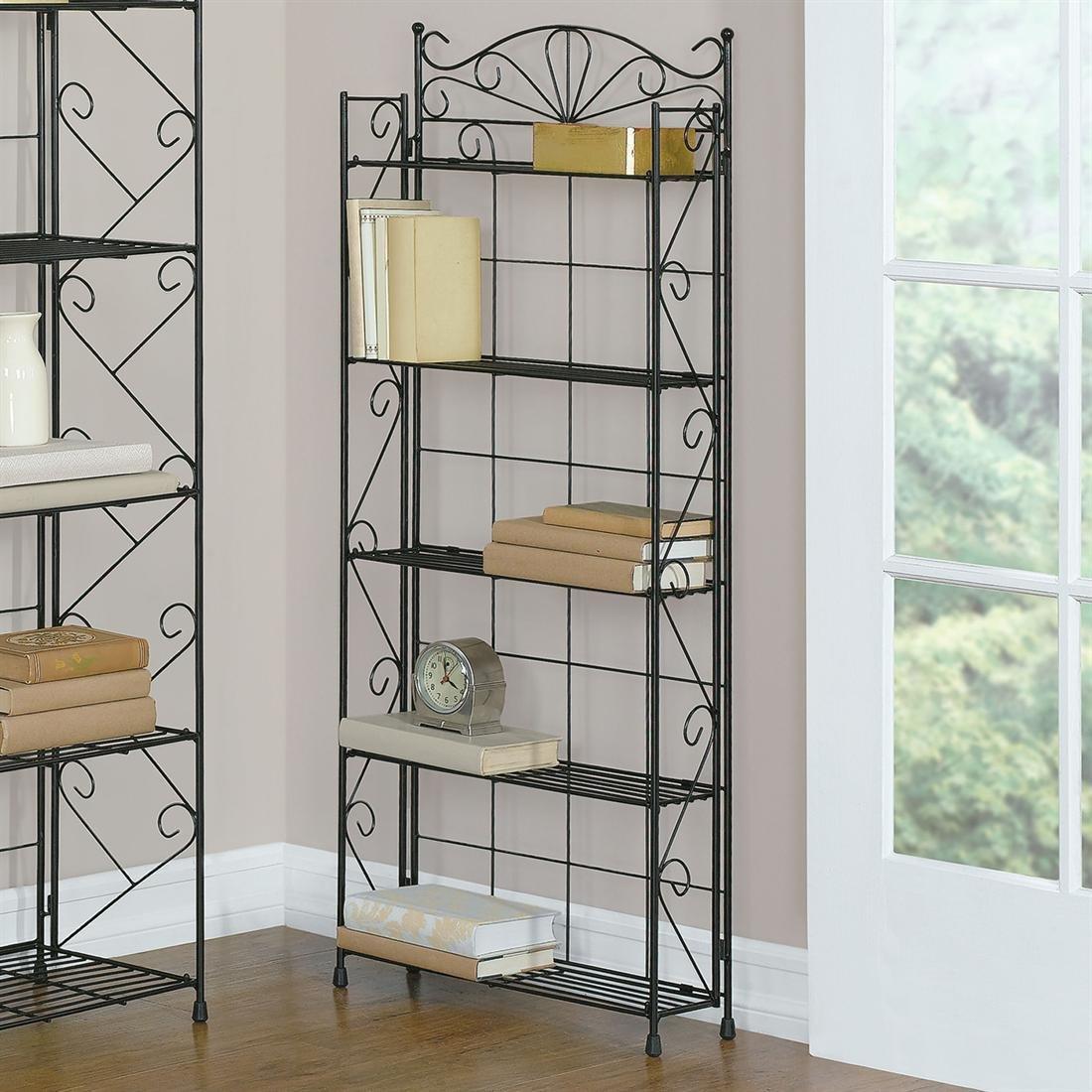 Brylanehome Wrought Iron 5 Shelf Media Rack