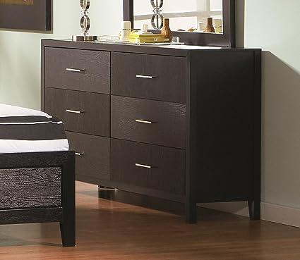 Coaster Home Furnishings 201653 Casual Contemporary Dresser, Black