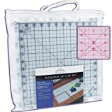 "PuzzleMat 24"" x 36"" Rotary Cutting Mat Set – Includes 6 – 12"" x 12"" pieces and carrying case. Perfect for the quilter on the go! ++ Bonus FREE 4"" x 4"" acrylic ruler a $5.99 value ++ (Color: White, Tamaño: 24"