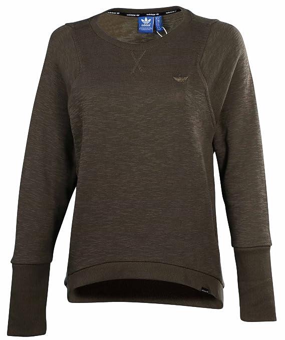Adidas Originals Women's Premium Essentials Sweater-Dark Olive