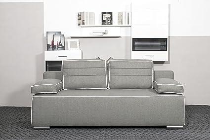 Sofa Punto mit Bettfunktion Schlaffunktion Garnitur Wohnlandschaft Couch 01642 (Farbe wie abgebildet)