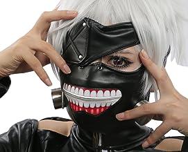 XCOSE RScary Ken Kaneki Mask Wig Cosplay Props for Halloween Costume