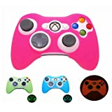 Pink Glow in Dark Xbox 360 Game Controller Silicone Case Skin Protector Cover by BLANCHE_ZHU