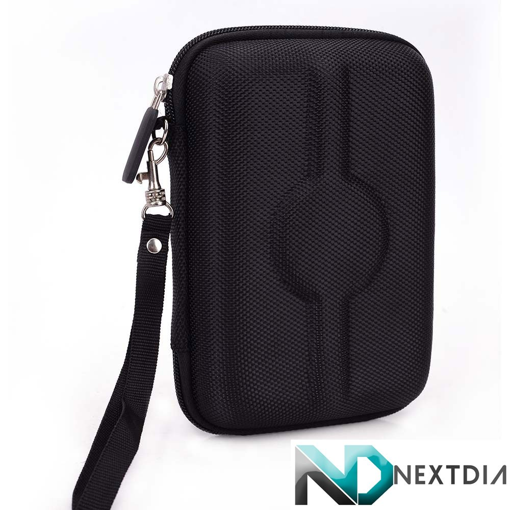 Travel Vape Case compatible with Kangertech E smart 394 |BLACK NYLON HARD SHELL| + Carabiner Hook for Easy Attachment + NextDIA Cable Organizer