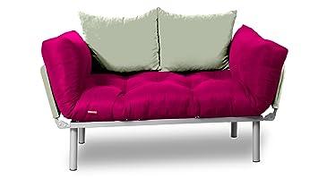 kombin schlafsofa rosa creme db947. Black Bedroom Furniture Sets. Home Design Ideas