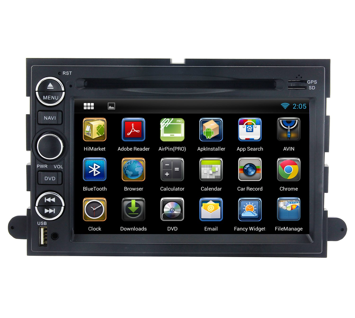 YINUO 7 In Dash Car Stereo Bluetooth GPS Navigation AM/FM Radio Multimedia Entertainment System for Ford F150 2005-2009 Ford Mustang 2007-2010 Ford Expedition 2007-2010 Ford Expedition (U324)2007-2010 Ford Expedition EL/Max(U354) 2006-2009 Ford Fusion 4