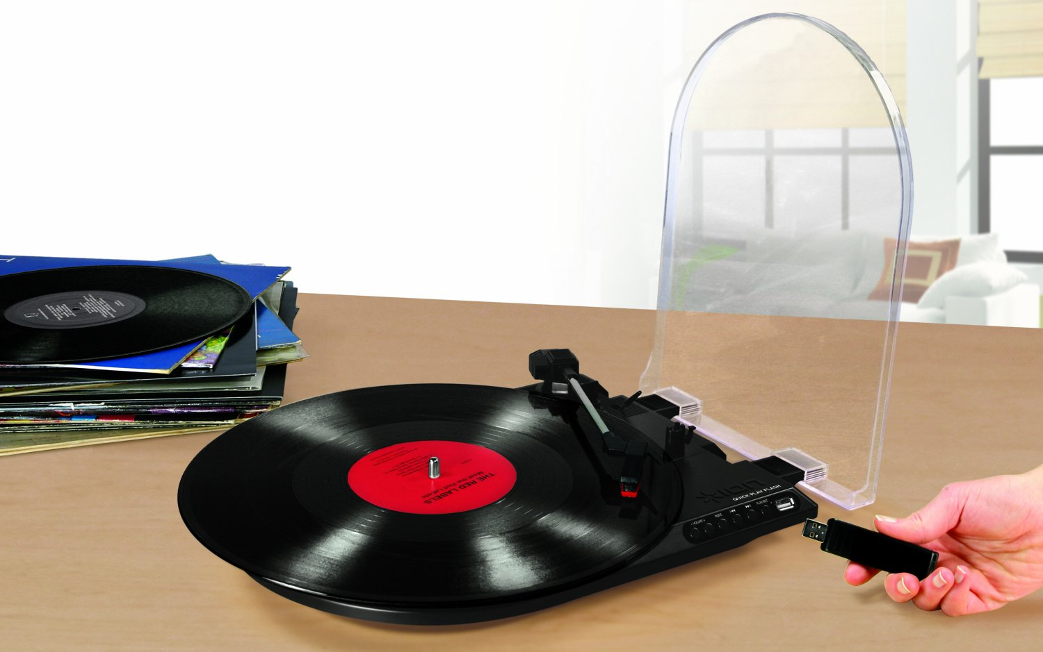 Đầu đĩa ION IT28 Quick Play Flash Conversion Turntable with USB Flash Drive