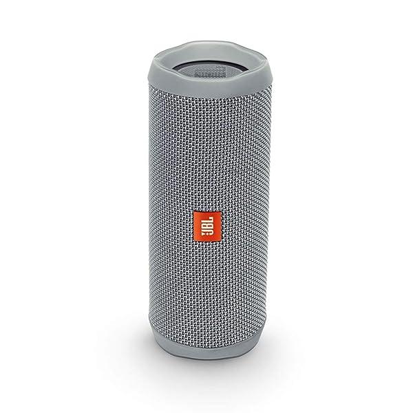 JBL Flip 4 Bluetooth Portable Stereo Speaker - Grey (Color: Gray, Tamaño: Medium)