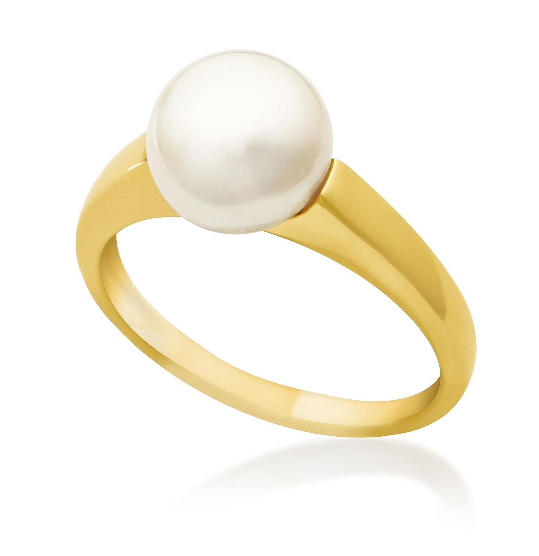 Miore Damen-Ring 9 Karat 375 Gelbgold Süßwasser Zuchtperle 8.5mm große USP040RY kaufen