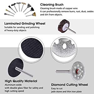 Rotary Tool Accessories Kit, GOCHANGE 315pcs Grinding Polishing Drilling Kit, 1/8'' Shank Electric Grinder Universal Fitment for Easy Cutting, Grinding, Sanding, Sharpening, Carving, Polishing(315pcs)