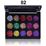 Ochine Eyeshadow Palette 15 Colors Glitter Diamond Eyeshadow Palette Gliter Shimmer Eye Shadow Pallete (Color: A2)
