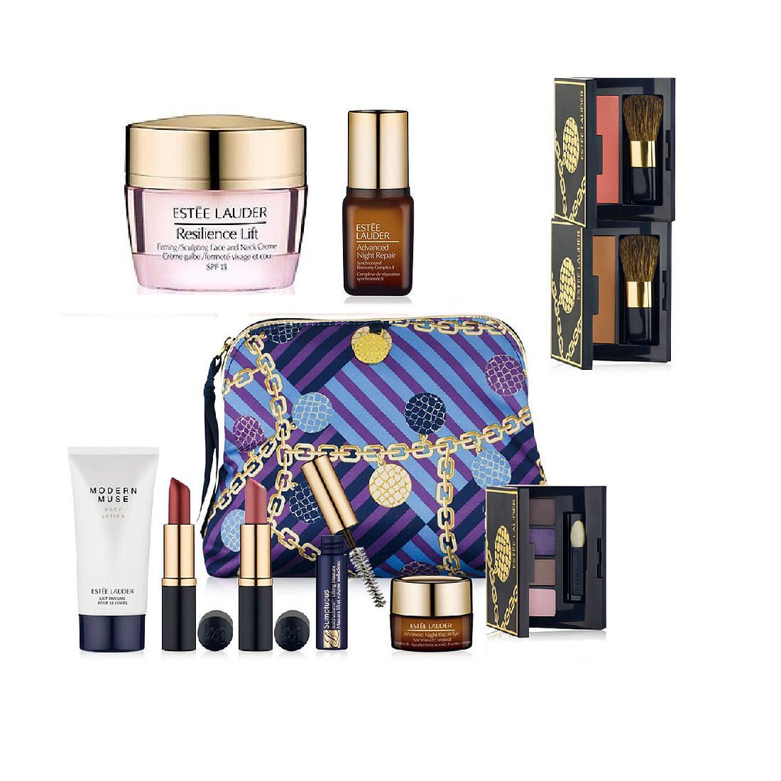 New-Estee-Lauder-Fall-9pc-Skincare-Makeup-Gift-Set-165-Value-with-Cosmetic-Bag-Macy-s-Exclusive