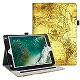 Fintie iPad 9.7 2018 2017 / iPad Air 2 / iPad Air Case - [Corner Protection] Multi-Angle Viewing Folio Cover w/Pocket, Auto Wake/Sleep for Apple iPad 6th / 5th Gen, iPad Air 1/2, Ancient Map (Color: ZA-Ancient Map, Tamaño: 9.7 Inch)