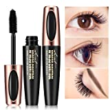 Inverlee New Fiber Eyelash Mascara Long Black Curling Lash Extension Waterproof Eye Makeup Tool … (Black) (Color: Black, Tamaño: as shown)