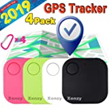Smart Key Finder Locator, GPS Tracker, Square Anti Lost Wallet Phone Finder Pet Dog Cat Kids Luggage Tracker Sensor Device for Keychain Mini Alarm Wireless Seeker Selfie Remote Shutter Locator 4 Pack (Color: white black green pink, Tamaño: 4 Pack)