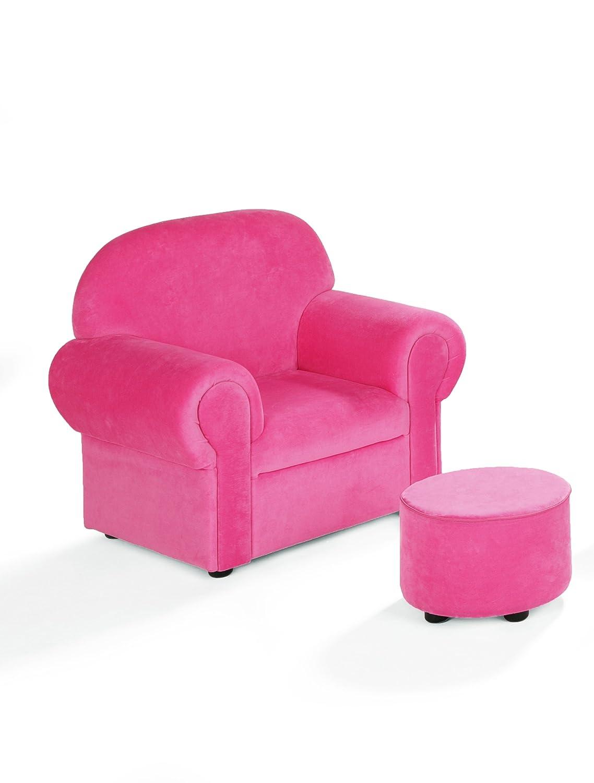 Lillylin 27918 Kindersessel inklusive Hocker Momo, pink