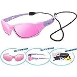 VATTER TR90 Unbreakable Polarized Sport Sunglasses For Kids Boys Girls Youth 816pinkpurplelenses